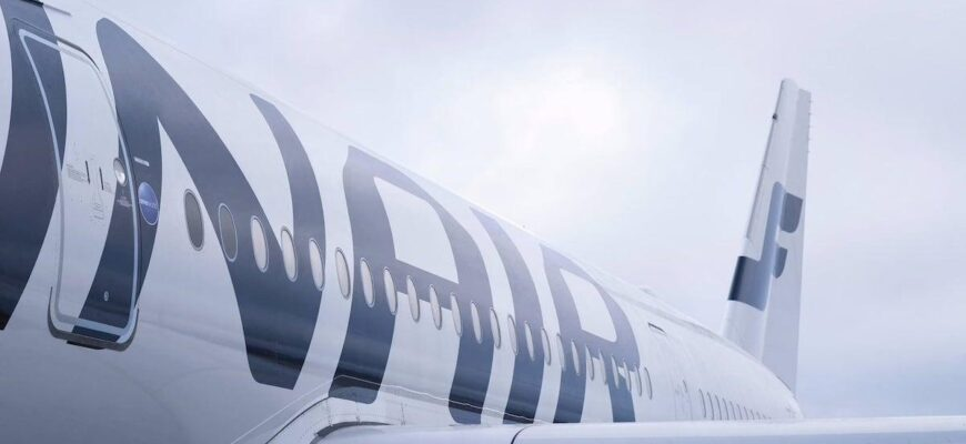 finnair sustainability general a350 detail side wing data