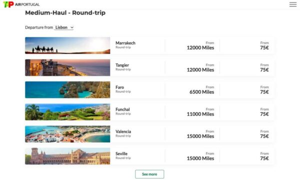 TAP Air Portugal promotions
